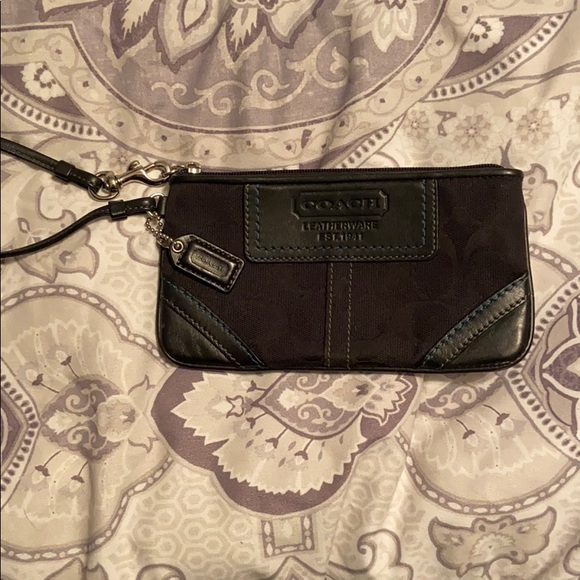 Coach Handbags - Black Coach Wristlet